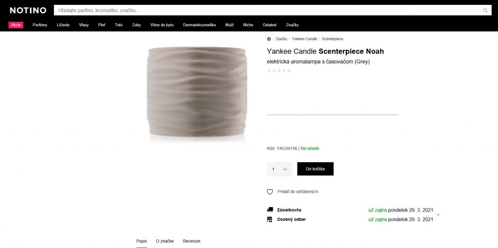 aroma lampa Yankee Candle